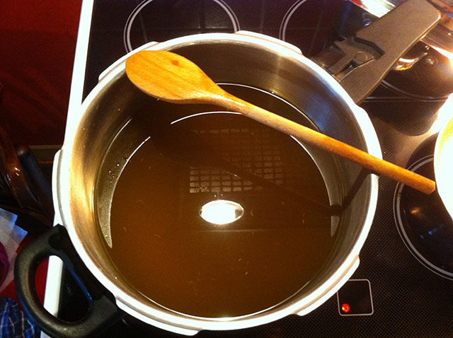 Reheat and boil till honey consistency