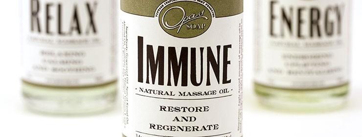 The benefits of immune massage oil