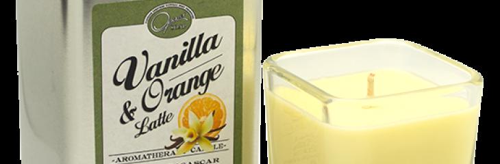 New Vanilla and Orange Latte Candle